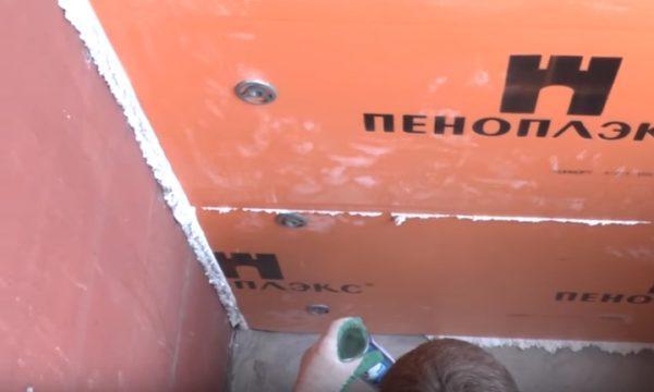 герметизация стыков монтажной пеной