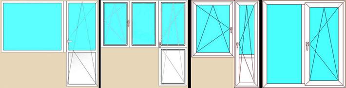 замеры балконных блоков