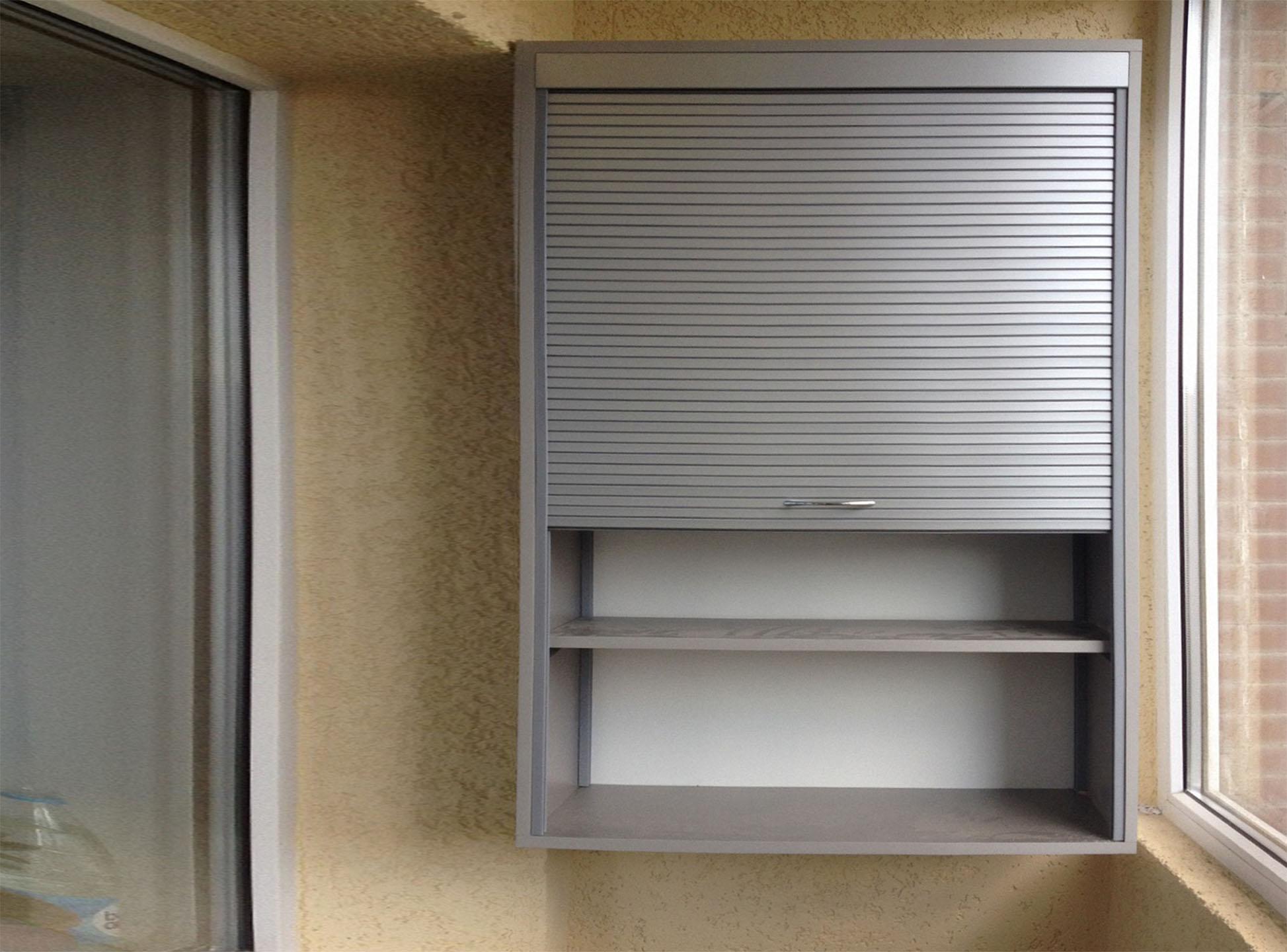 шкаф для лоджии из рольставень