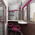 Фото 33 барная стойка на балконе или лоджии