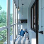 Фото 25 Идеи дизайна лоджии и балкона с панорамным остеклением