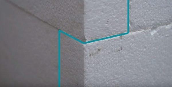 способ укладки плит пенопласта на стену