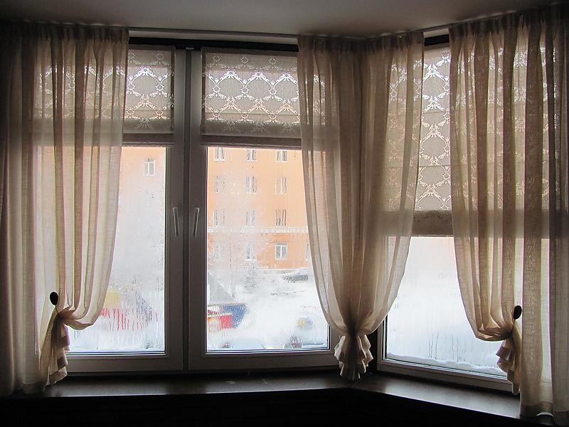 римские шторы и гардины