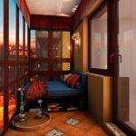 лаундж зона на балконе