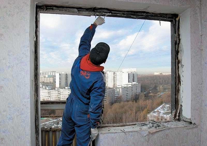 Подготовка балконного проема