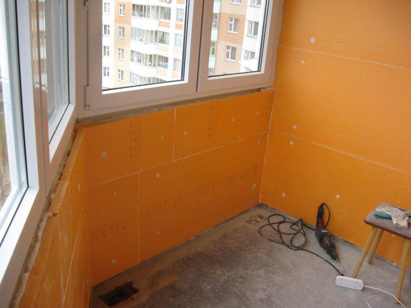 утепление балкона п44