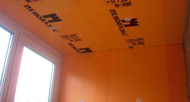 утепление потолка и стен балкона пеноплексом