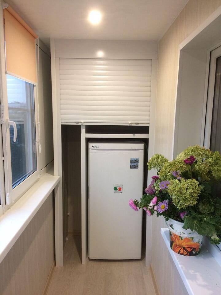 холодильник на утепленном балконе