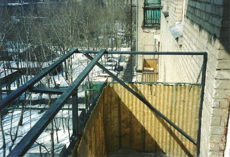 вынос балкона на кронштейнах
