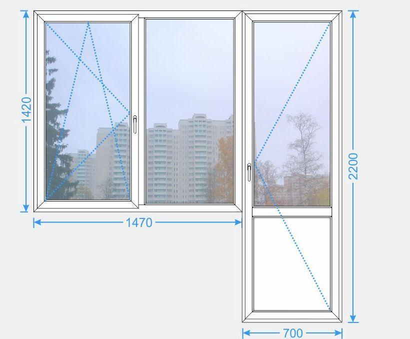 Размеры балконного блока