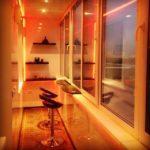 Фото 1 дизайн балкона с освещением
