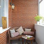 Фото 4 Чем и как самостоятельно покрасить кирпичную стену на балконе