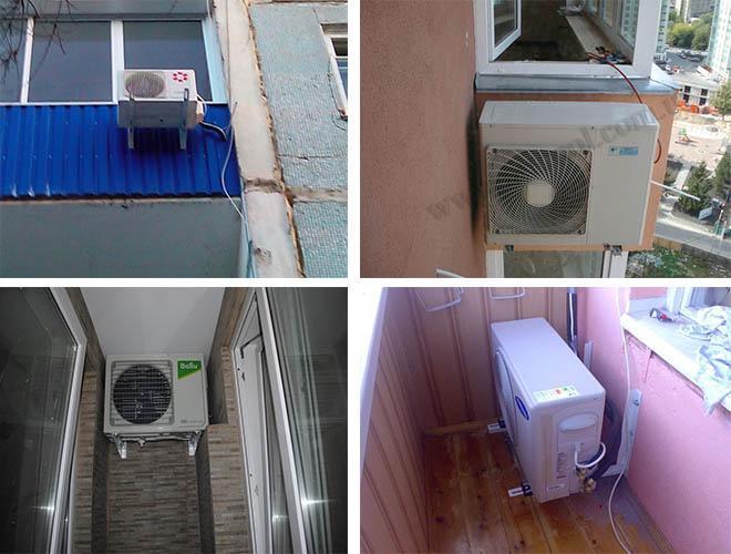 Правила размещения наружного блока кондиционера на балконе