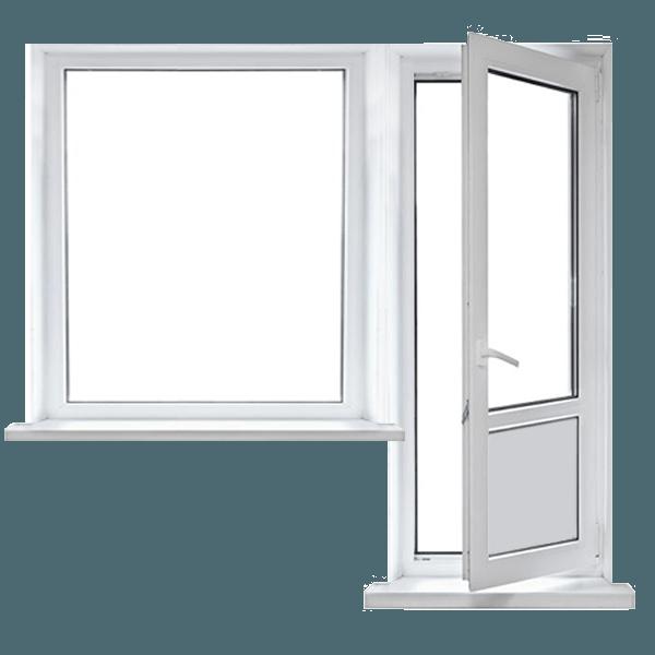 Одностворчатые балконные пластиковые двери
