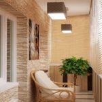 Фото 12 дизайн балкона с освещением