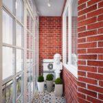 Фото 8 чем и как самостоятельно покрасить кирпичную стену на балконе