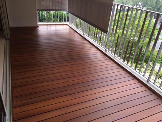 пол на открытом балконе