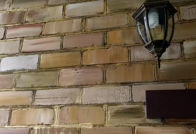 покраска балконной стены