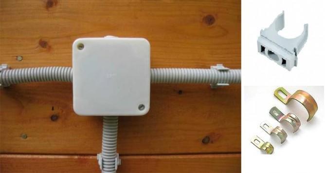 Разветвительная коробка и крепеж для кабелей