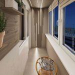 Фото 11 дизайн балкона с освещением