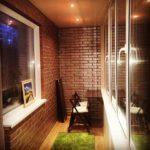 Фото 9 дизайн балкона с освещением