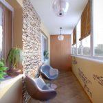 Фото 14 отделка балкона декоративным камнем своими руками