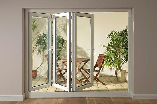 балконная дверь гармошка