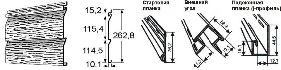 Стандарные размеры сайдинга