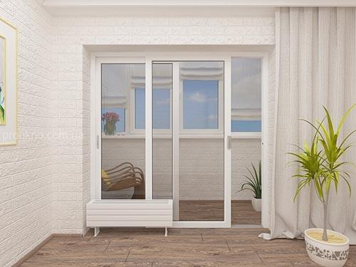 Раздвижные балконные пластиковые двери