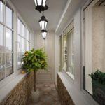 светильники на маленььком балконе