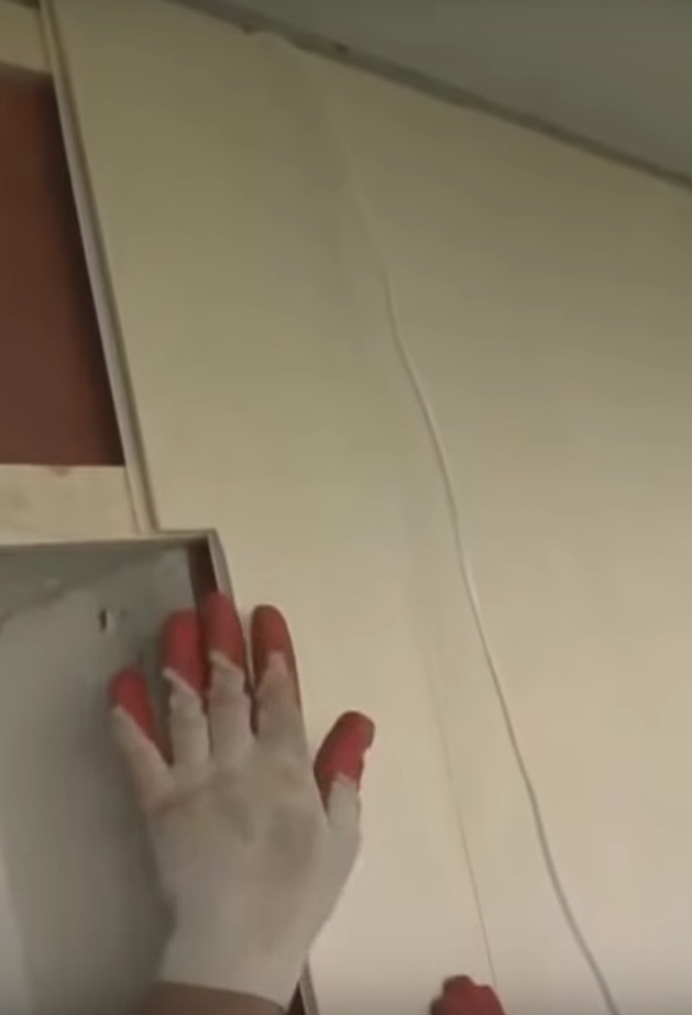 монтаж на внутренней стене 2