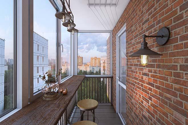 Трендовые идеи дизайна балкона и лоджии в стиле лофт
