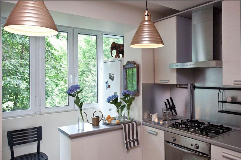 Дизайн кухни совмещенной с балконом: фото в интерьере, идеи дизайна